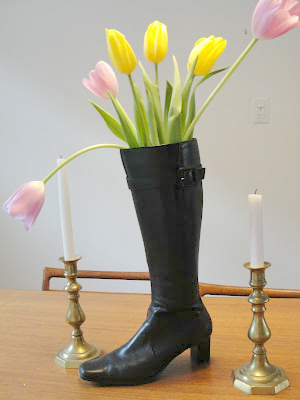 April Fool's Day Prank for Kids boot vase