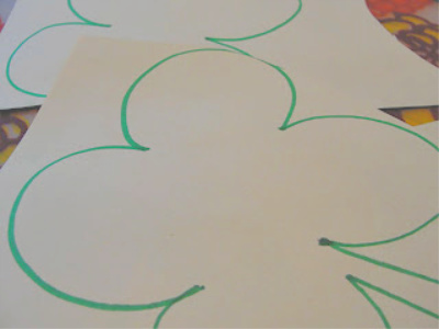 shamrock traced on construction paper