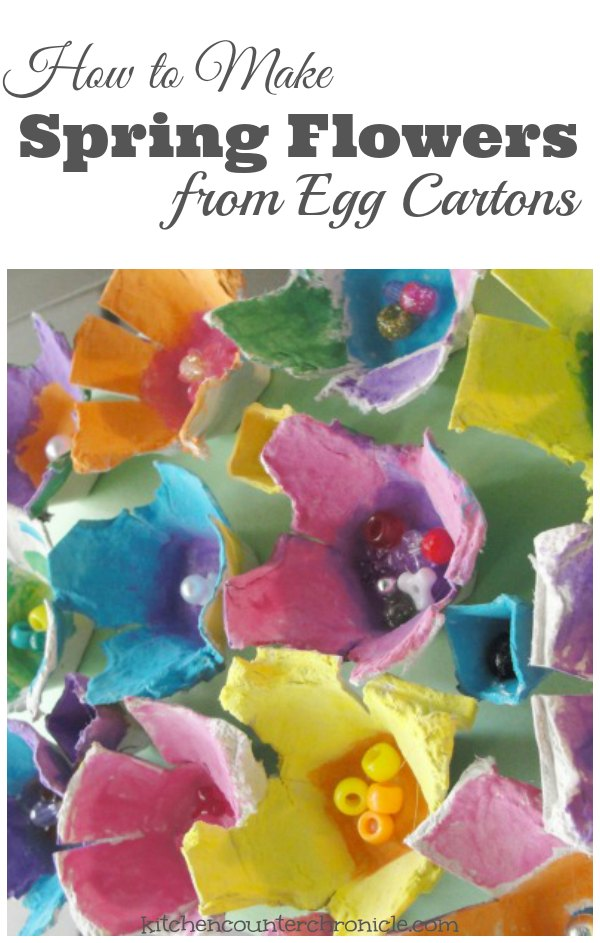 How to Make Beautiful Egg Carton Flowers