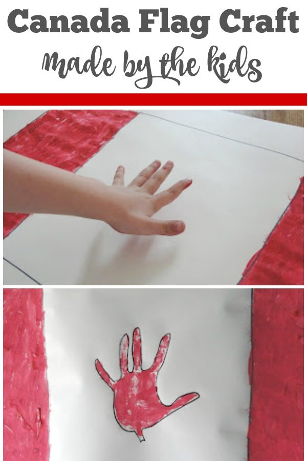 Canada Day Flag Craft for Kids to Make