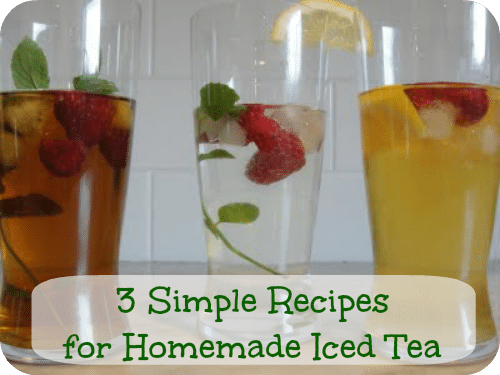 3 Simple Recipes for Homemade Iced Tea