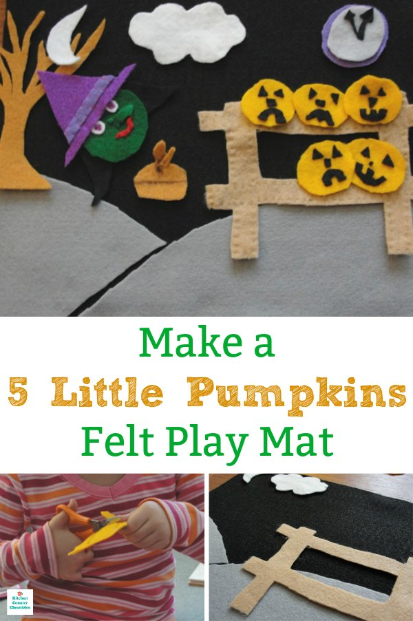 5 little pumpkins felt play mat how to make