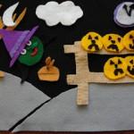 Halloween – 5 little pumpkins felt board