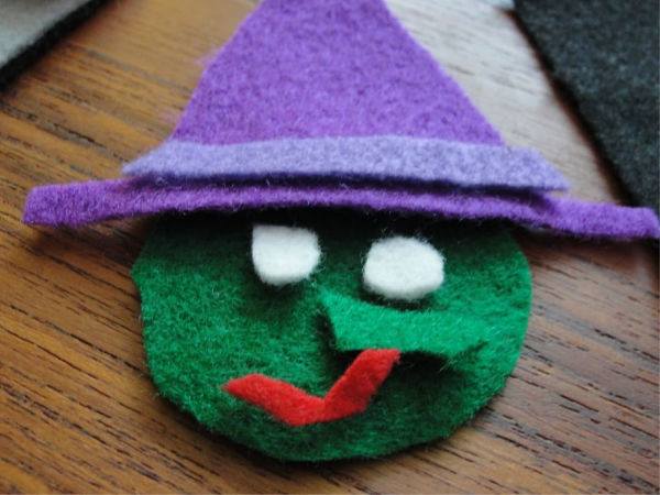 witch felt face