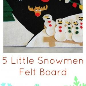 5 little snowmen felt board
