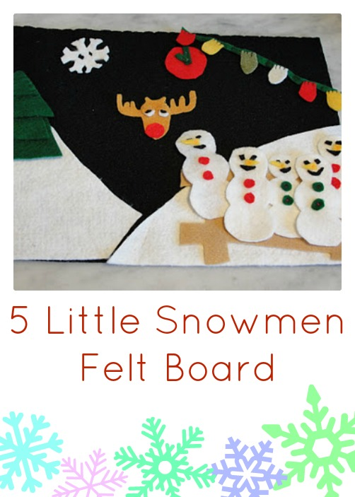 5 little snowmen felt board