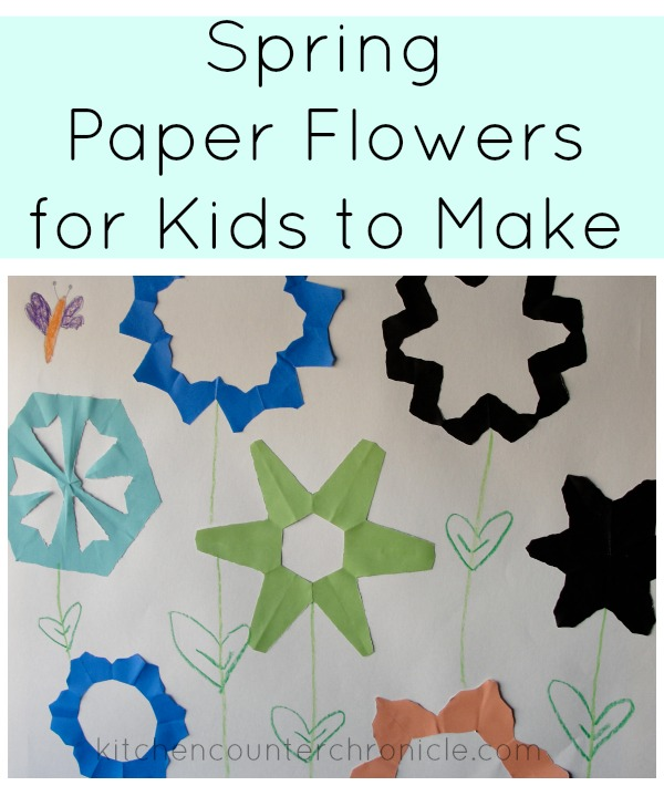 spring paper flowers for kids
