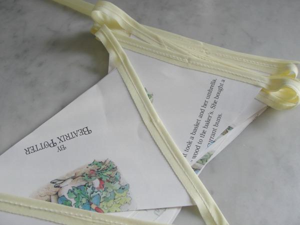 storybook bunting sewn