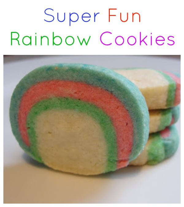 Baking up a rainbow cookie