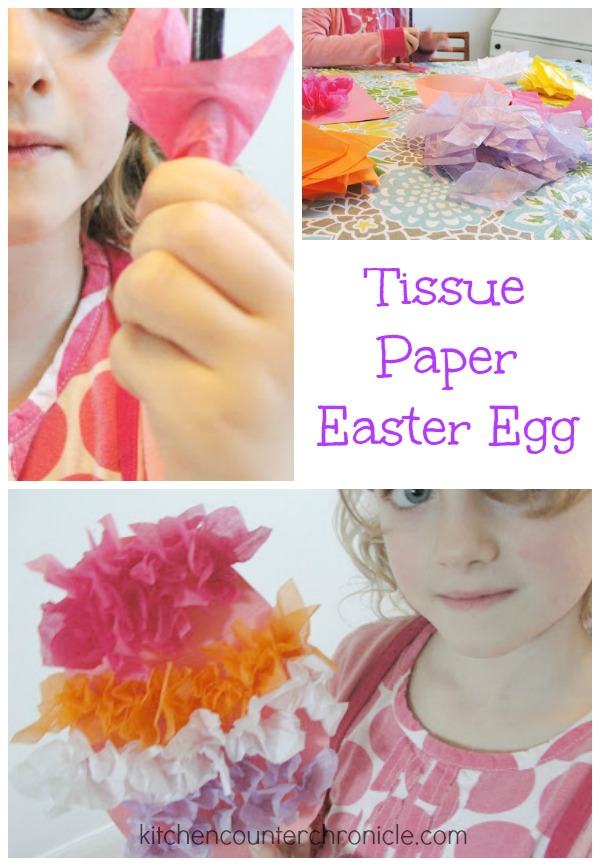 tissue paper easter egg