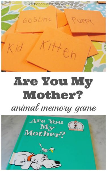 Are You My Mother Animal Memory Game for Kids