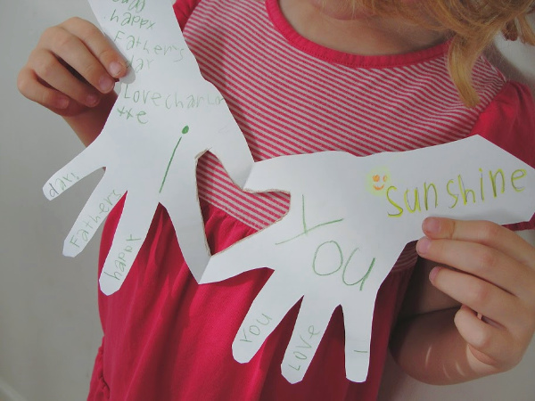 handprint fathers day card
