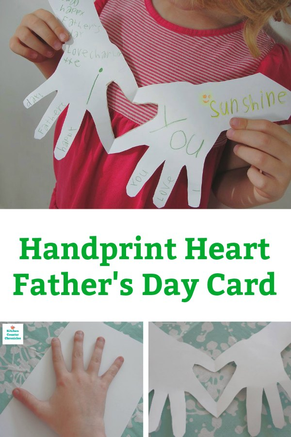 handprint father's day card for kids