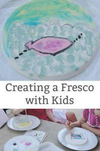 Creating a Fresco with Kids - Kids Get Arty