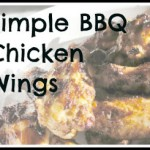 Simple BBQ chicken wings