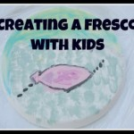 Kids Get Arty – creating a fresco with kids