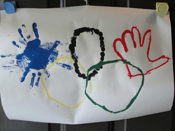 kid made olympic flag 2