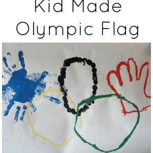 kid made olympic flag