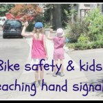 Bike safety and kids – teaching hand signals
