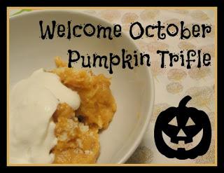 Welcome October, Pumpkin Trifle