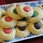 Holiday Shortbread Button Cookies