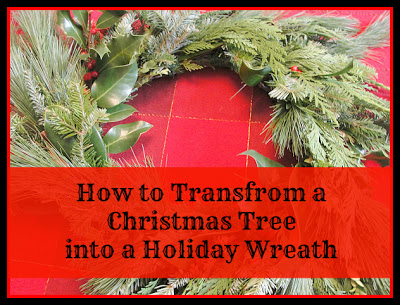 how to make a christmas wreath from a christmas tree