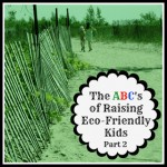 ABC's of Raising Eco-Friendly Kids – Part 2