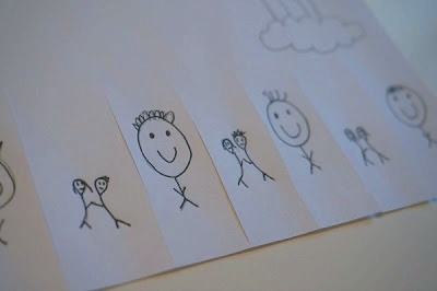smiles and hugs poster with drawings
