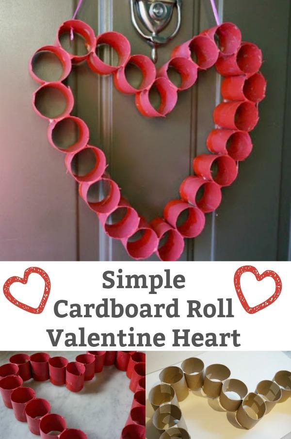valentine heart cardboard roll