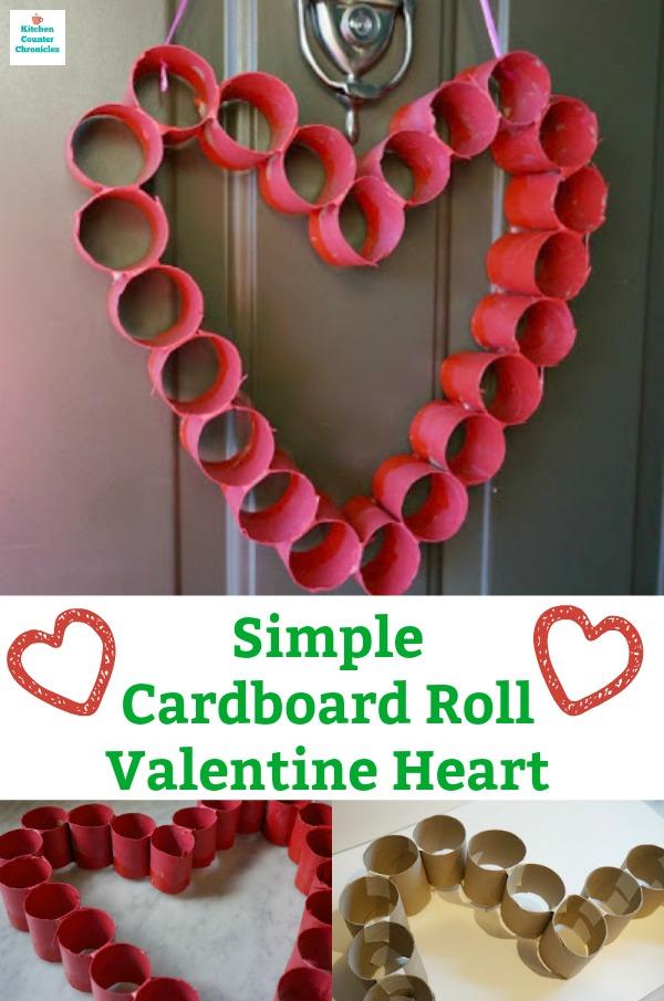 valentine's day heart cardboard heart