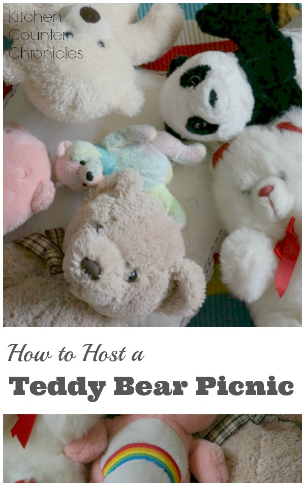 How to Host a Teddy Bear Picnic - Whether it's raining or sunny - everyday is perfect for a teddy bear picnic. Gather up the bears and the books and don't forget your blanket. | Kid Activity | Rainy Day Activity | Teddy Bear Activity |
