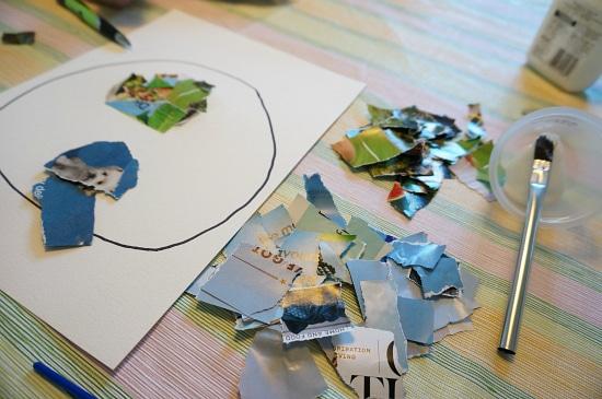 collage art supplies