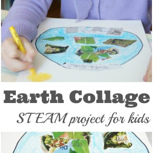Earth Collage STEAM for Kids