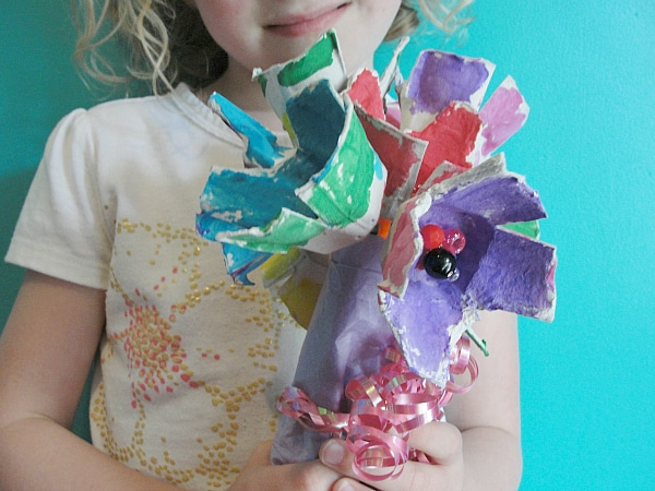 Egg Carton Flowers: Mother's Day bouquet