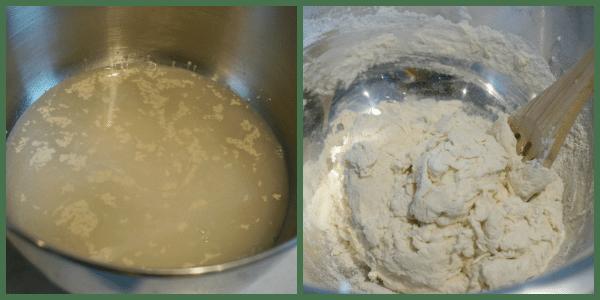 pizza dough mixing