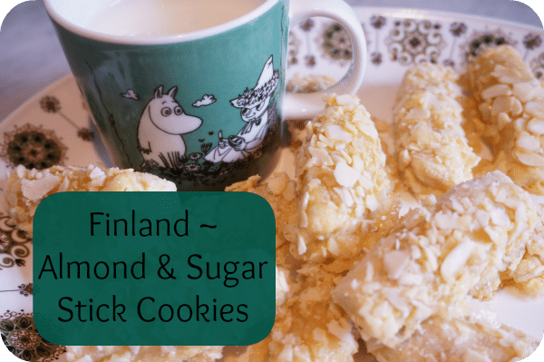 Finland ~ Almond & Sugar Stick Cookie