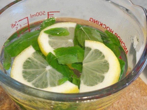 lemon, basil and mint tea