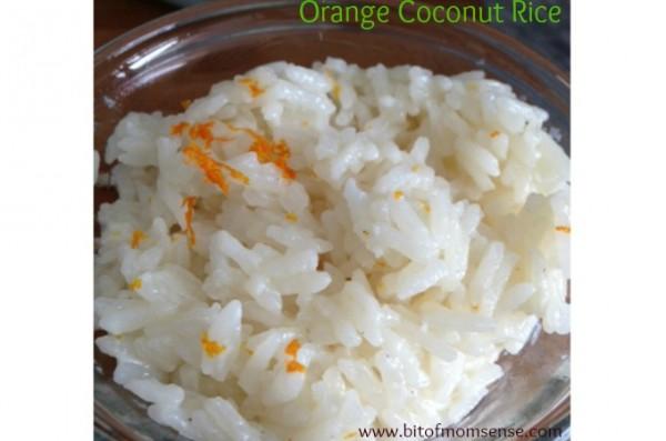 orange coconut rice