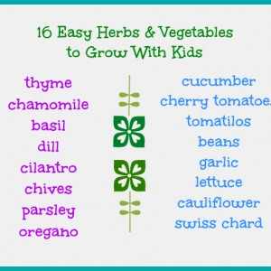 vegetables to grow with kids