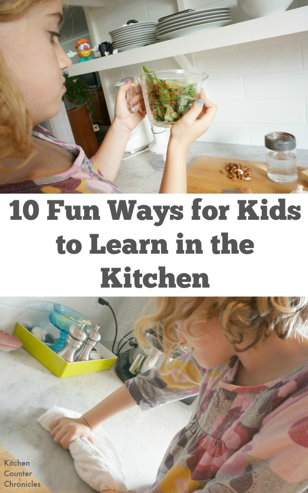 10 Fun Ways for Kids to Learn in the Kitchen - Spending time in the kitchen with the kids isn't just about making cookies. Check out these 10 fun ways for kids to learn in the kitchen.
