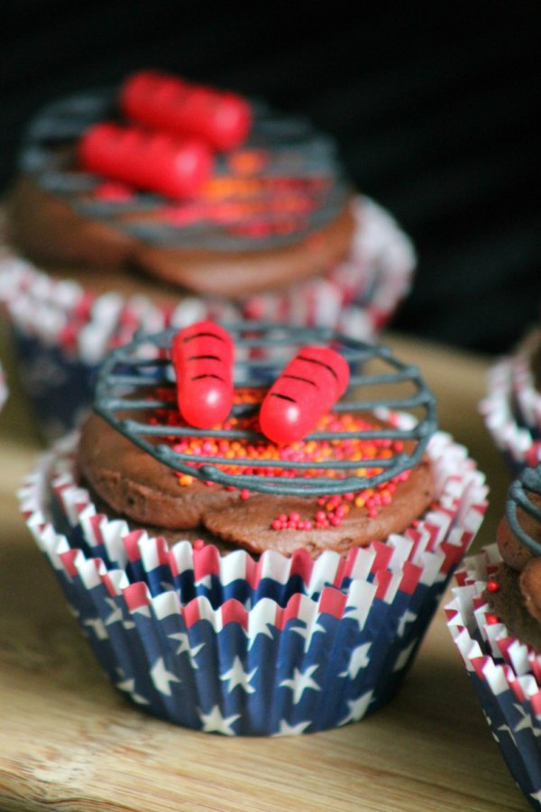 barbecue cupcakes