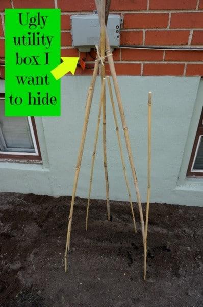 bean tee-pee utility box