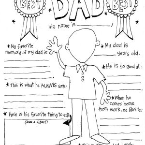 Free Printable Father's Day Colouring Page