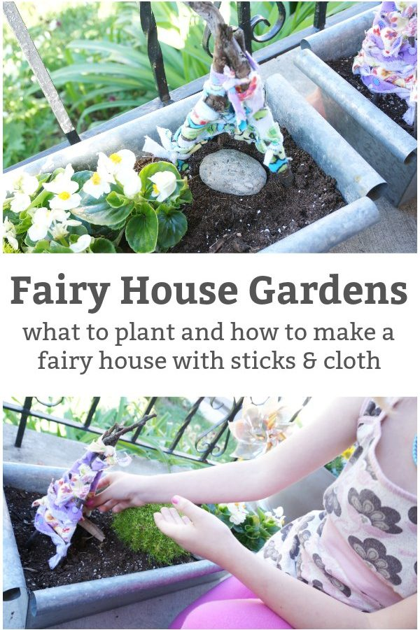 how to make a fairy house garden with sticks