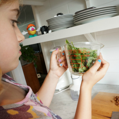 kids learning in the kitchen