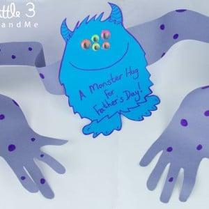monster hug card