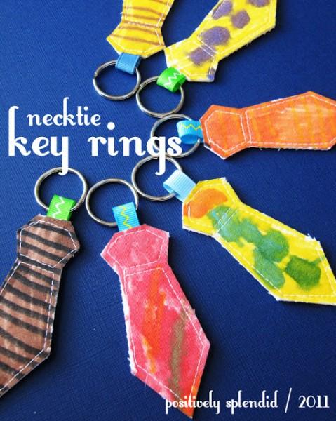necktie key ring
