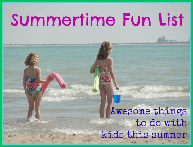 summertime fun list 2013