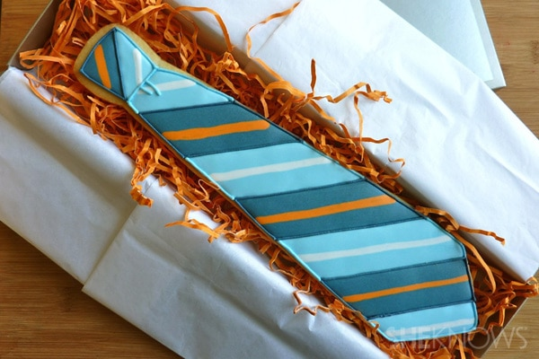 neck tie cookie