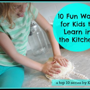 kids learn in kitchen
